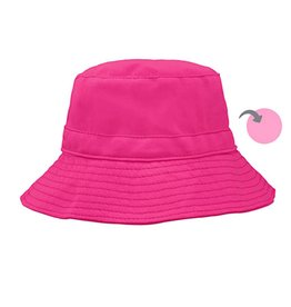 Reversible Bucket Hat Organic Cotton- Hot Pink/Light Pink 2T/4T