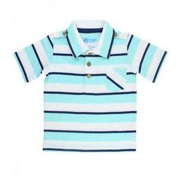 RuggedButts Seafoam Stripe 1 - Pocket Polo