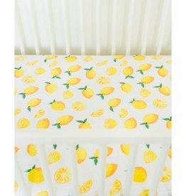 Little Unicorn Cotton Muslin Fitted Sheet - Lemons