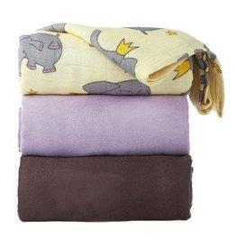 Tula Blanket 3 - 3 Blanket Set Elephant Prince
