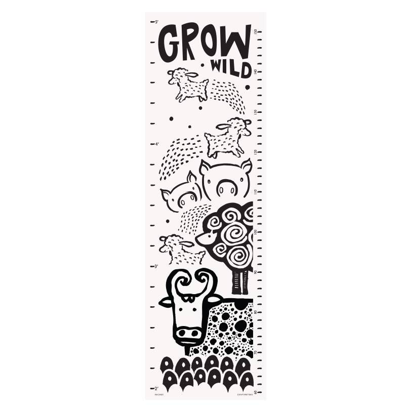 Canvas Growth Chart Farm Kicks And Giggles
