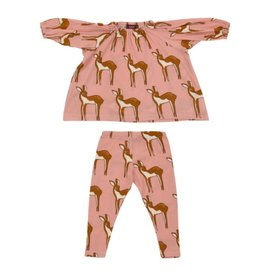 Milkbarn Kids Organic Dress & Legging Set - Rose Doe