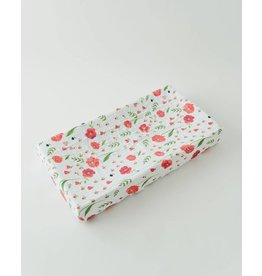 Little Unicorn Cotton Muslin Changing Pad Cover - Summer Poppy