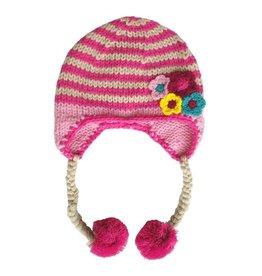 Huggalugs Daisy Chain Pink Beanie