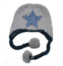 Huggalugs Star Beanie - Blue