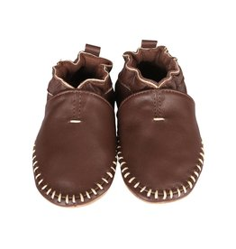 Robeez Premium Leather Moccasins Classic Moccasin Brown