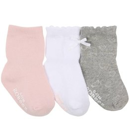 Robeez Girly Girl (Infant and Toddler) Basics Socks 3-Pack