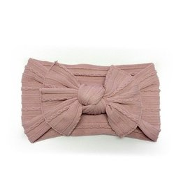 Baby Bling Bows Cable Knit Knot (Mauve)
