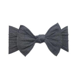 Baby Bling Bows Patterned Knot (Heather Charcoal)