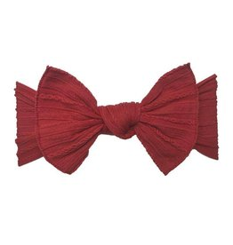 Baby Bling Bows Cable Knit Knot (Cherry)