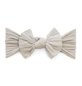 Baby Bling Bows Cable Knit Knot (Taupe)
