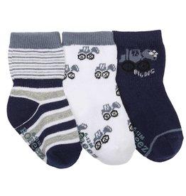 Robeez Baby Socks, Big Digger 3-Pack