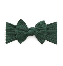 Baby Bling Bows Cable Knit Knot (Forest Green)
