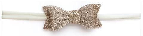Baby Bling Bows Glitter Bow Tie Skinny (Gold)