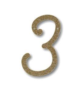 Meri Meri Gold Glitter 3 Acrylic Bunting