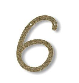 Meri Meri Gold Glitter 6 Acrylic Bunting