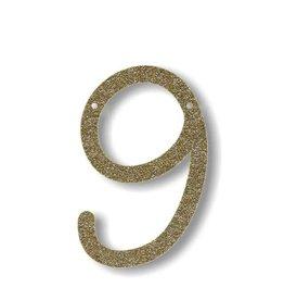 Meri Meri Gold Glitter 9 Acrylic Bunting
