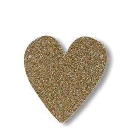 Meri Meri Gold Glitter Heart Acrylic Bunting