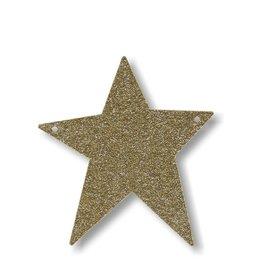 Meri Meri Gold Glitter Star Acrylic Bunting