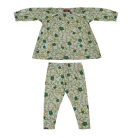 Milkbarn Kids Bamboo Dress & Legging Set - Blue Floral