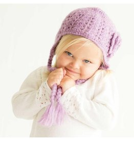 Huggalugs Lilac Lacy Flowered Earflap Hat