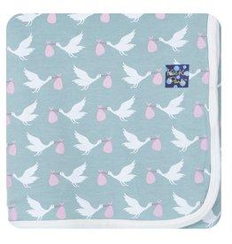 Kickee Pants Swaddling Blanket -  Jade Stork
