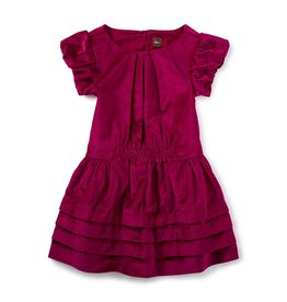 Tea Collection Dunrobin Velvet Dress - Gooseberry