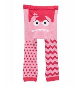 Doodle Pants Pink Monster Cotton Leggings