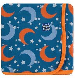 Kickee Pants Print Swaddling Blanket Twilight Moon and Stars