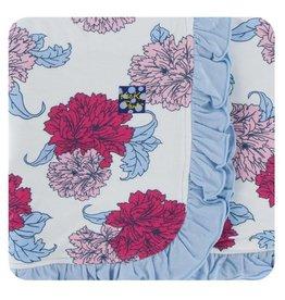 Kickee Pants Print Ruffle Toddler Blanket Natural Peony