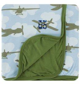 Kickee Pants Print Toddler Blanket Pond Airplanes