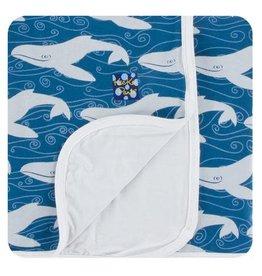 Kickee Pants Print Toddler Blanket Twilight Whale