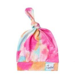 Copper Pearl Top Knot Hat - Monet