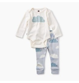 Tea Collection 2-Piece Bodysuit Baby Outfit - Chalk
