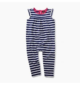 Tea Collection Classic Striped Romper - Twilight