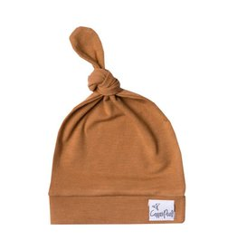 Copper Pearl Top Knot Hat - Camel