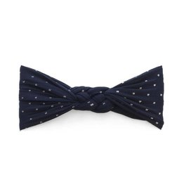 Baby Bling Bows Sailor Knot (Navy Dot)