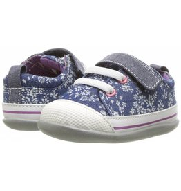 See Kai Run Stevie II (First Walker Shoe) Blue Flowers