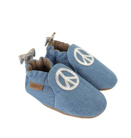 Robeez Peace Out Baby Shoe Soft Sole Moccasin