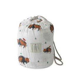 Little Unicorn Cotton Muslin Quilt Big Kid - Bison