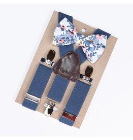 Little Mister White Roses Baby & Toddler Suspenders