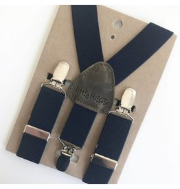 Little Mister Navy Baby & Toddler Suspenders