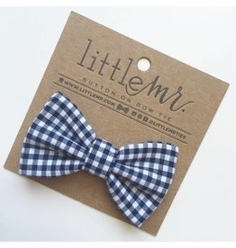 Little Mister Navy Gingham Baby & Toddler Bow Tie