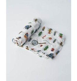 Little Unicorn Deluxe Muslin Swaddle - Single - Bugs