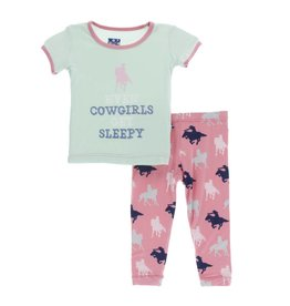 Kickee Pants Kickee Pants Short Sleeve Pajama Set: Strawberry Cowgirl