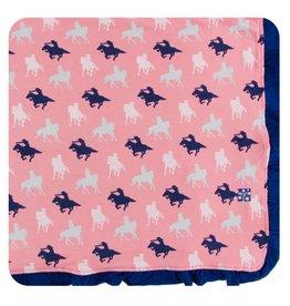 Kickee Pants Kickee Pants Ruffle Toddler Blanket: Strawberry Cowgirl