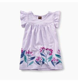 Tea Collection Graphic Wrap Neck Baby Dress - Wild Lavender