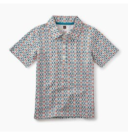Tea Collection African Print Polo - South African Geo