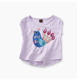 Tea Collection Peacock Graphic Baby Tee - Wild Lavender