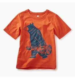 Tea Collection Band Bear Graphic Tee - Nectarine